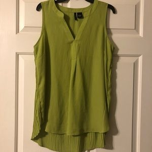 Green top with pleated back